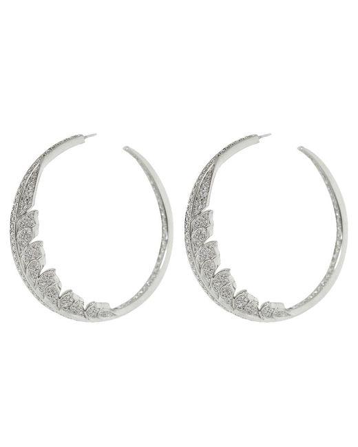 Stephen Webster - Manipheasant White Diamond Pave Hoop Earrings - Lyst