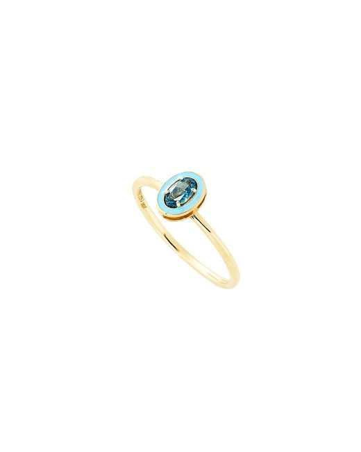 Alison Lou | Blue Topaz And Enamel Ring | Lyst