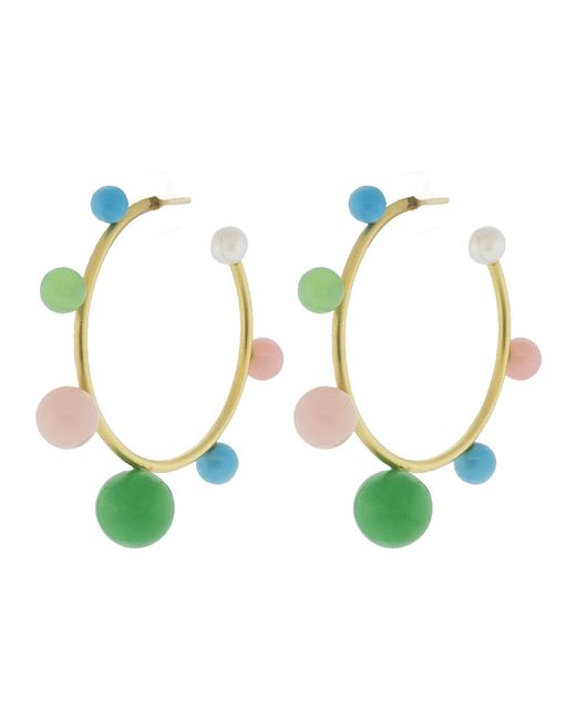 Irene Neuwirth - Multicolor Turquoise Chrysoprase Pink Opal Earrings - Lyst