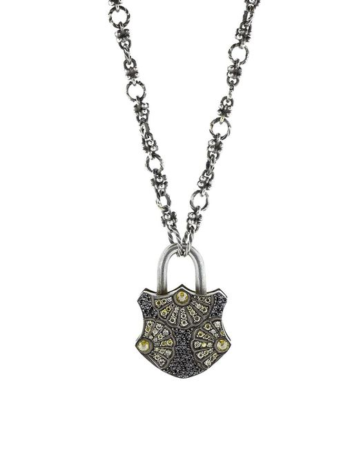 Sevan Biçakci - Multicolor Large Fan Motif Lock Pendant - Lyst