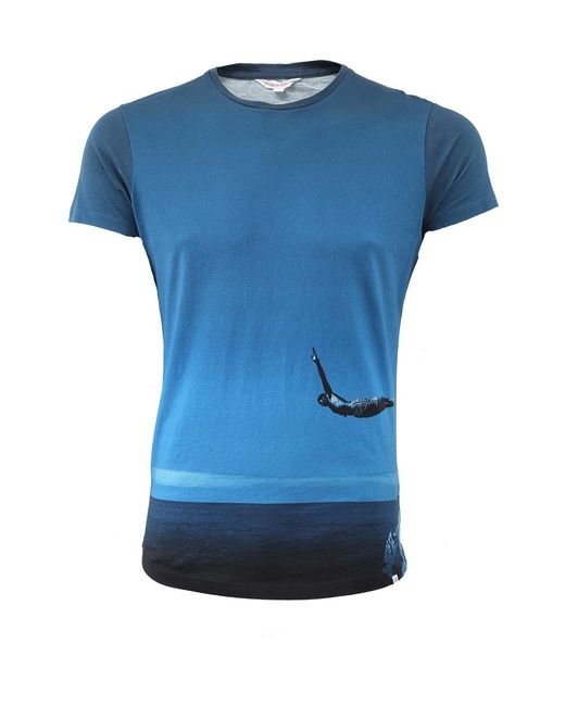Orlebar Brown | Blue Photographic T-shirt | Lyst