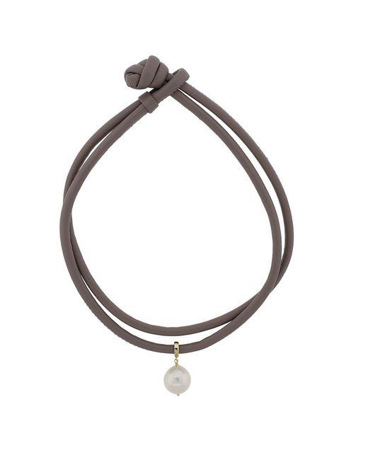 Mizuki - Multicolor Freshwater Pearl Leather Wrap Bracelet - Lyst