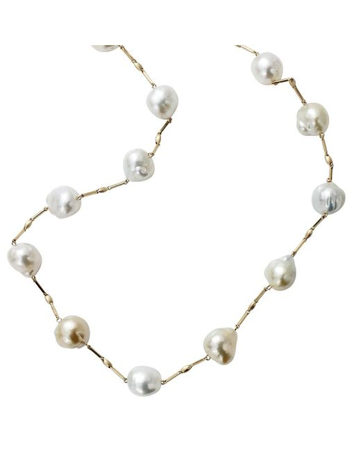Yvel - Blue South Sea Pearl Station Necklace - Lyst