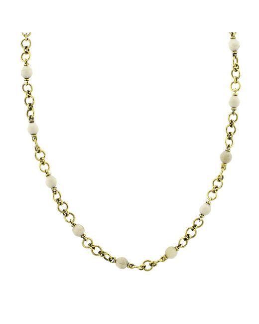 Sylva & Cie - Metallic Baby Mammoth Bead Necklace - Lyst