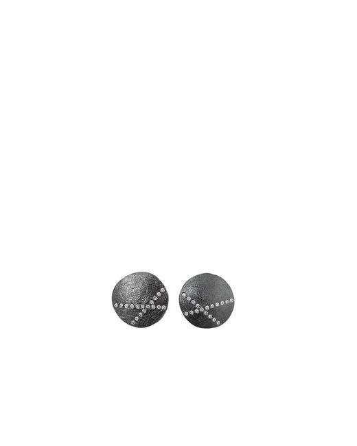 Todd Reed - Metallic White Diamond X Stud Earrings - Lyst