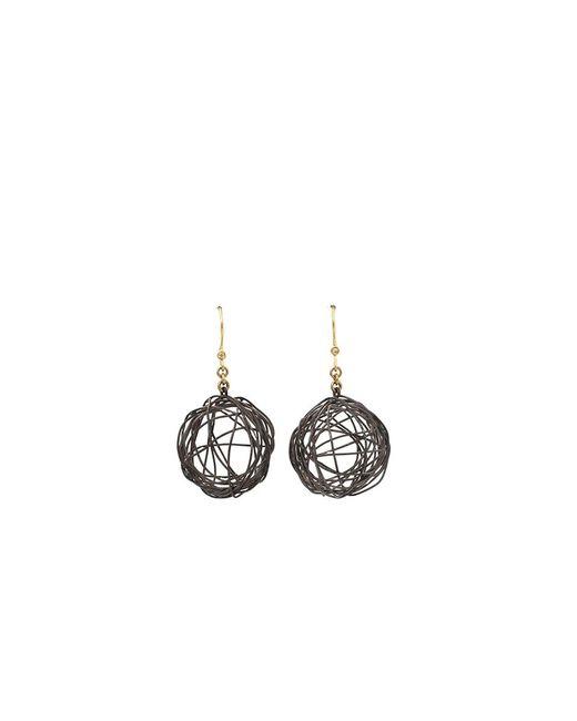 Boaz Kashi | Metallic Silver Drop Nest Earrings | Lyst