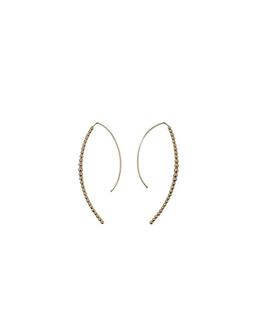 Mizuki | Metallic Open Marquis Diamond Hoop Earrings | Lyst
