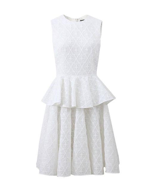 Alexander McQueen - White Peplum Dress - Lyst
