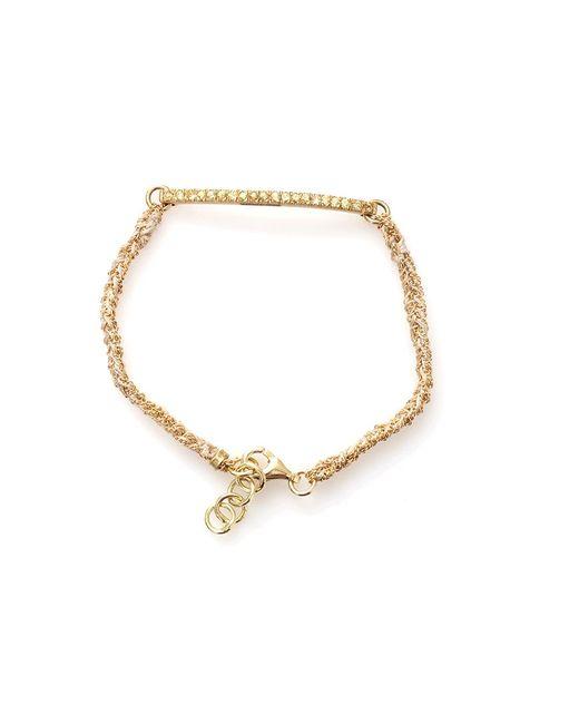 Carolina Bucci - Yellow Kaleidoscope Bracelet With Sapphire Pave - Lyst