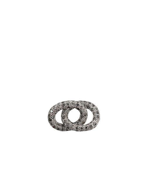 Carolina Bucci Metallic Grey Diamond Double Links