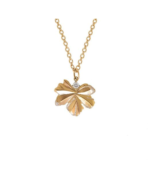 Irene Neuwirth | Metallic Gold Leaf And Diamond Pendant | Lyst