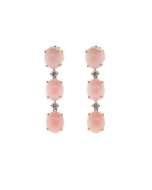 Irene Neuwirth | Pink Opal And Diamond Earrings | Lyst