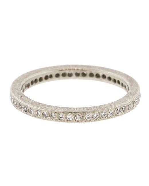 Todd Reed - Metallic Palladium White Diamond Eternity Ring for Men - Lyst