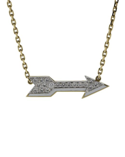 David Webb - Metallic Arrow Necklace - Lyst