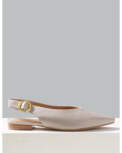 3bffcc0f6f9 Lyst - Marks   Spencer Leather Square Toe Slingback Shoes in Black