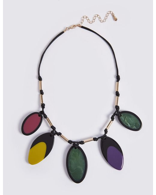 Marks & Spencer - Multicolor Jelly Petal Collar Necklace - Lyst