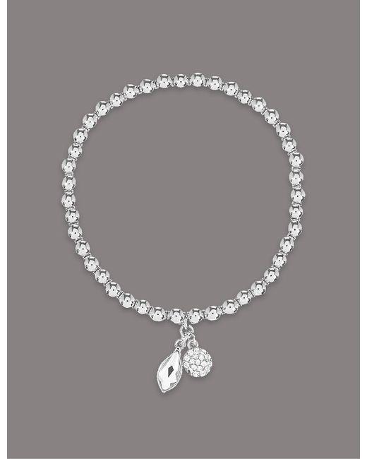 Marks & Spencer - Metallic Double Drop Bracelet Made With Swarovski® Elements - Lyst
