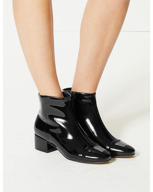Marks & Spencer - Black Block Heel Ankle Boots - Lyst