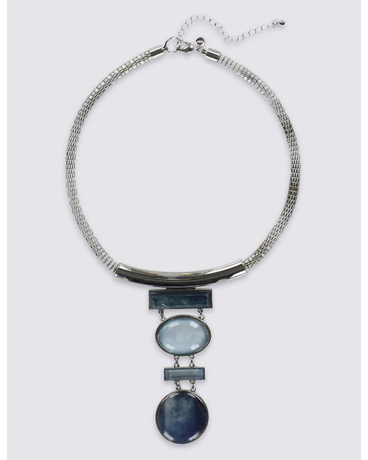 Marks & Spencer | Metallic Mix Shape Drop Necklace | Lyst
