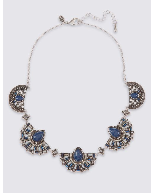 Marks & Spencer | Blue Moon Section Collar Necklace | Lyst