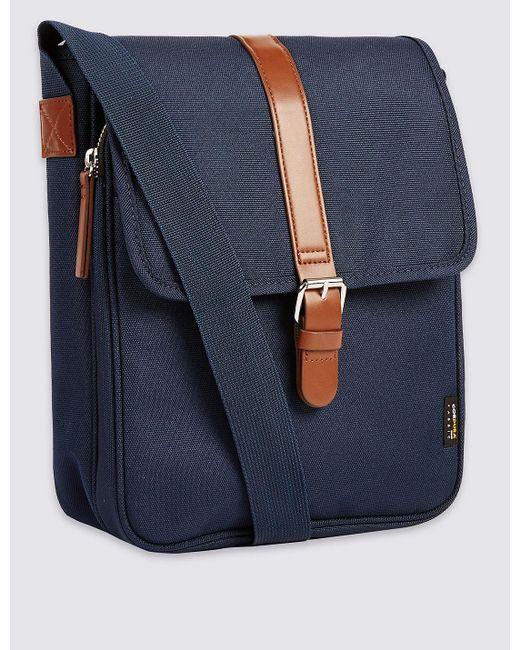 Marks & Spencer | Blue Scuff Resistant Cordura® Crossbody Bag for Men | Lyst