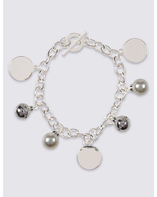 Marks & Spencer | Metallic Modern Pearl Cluster Bracelet | Lyst