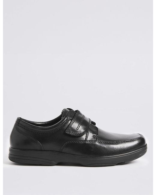 Marks & Spencer | Black Big & Tall Extra Wide Leather Shoes for Men | Lyst
