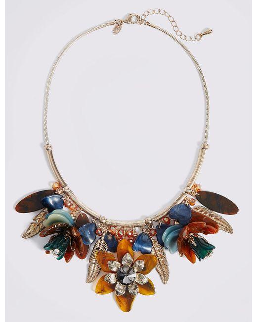 Marks & Spencer   Multicolor Resin Cluster Necklace   Lyst