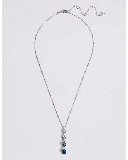 Marks & Spencer | Metallic Sparkle Stone Drop Necklace | Lyst