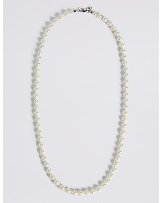 Marks & Spencer | Multicolor Pearl Effect Classic Mid Collar Necklace | Lyst