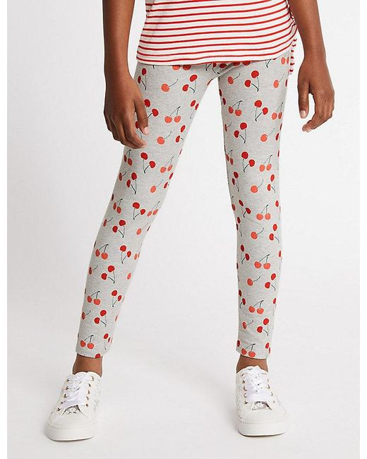910910d852836 ... Marks & Spencer - Multicolor 5 Pack Cotton Rich Leggings With Stretch  (3-16 ...