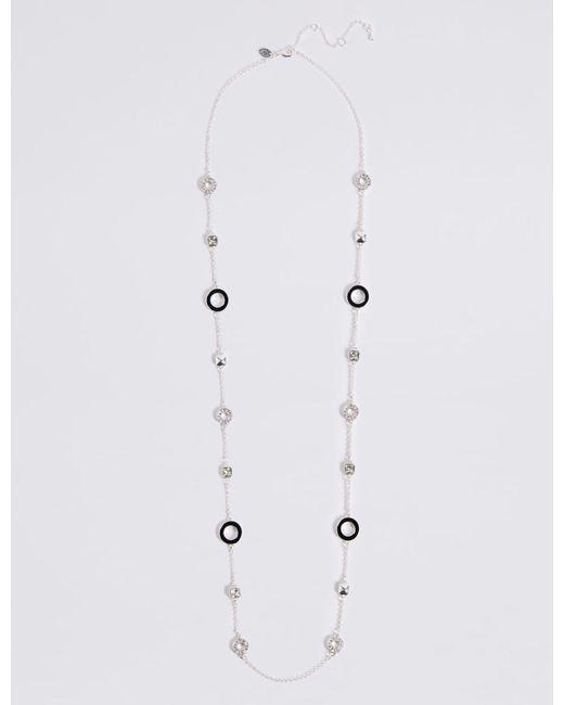 Marks & Spencer - Black Enamel Rope Necklace - Lyst