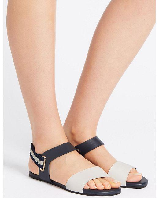 Marks & Spencer - Blue Elastic Ring Detail Sandals - Lyst