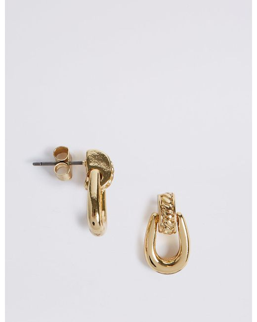 Marks & Spencer | Metallic Gold Plated Loop Drop Earrings | Lyst
