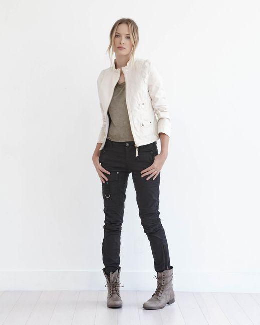 Marrakech   Natural Lou Stretch-Cotton Utility Jacket   Lyst