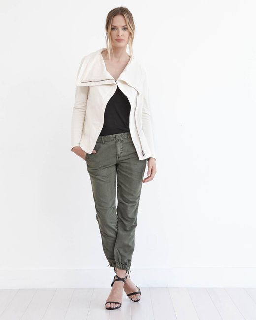 Marrakech | Natural Kacey Stretch-Cotton Moto Jacket | Lyst