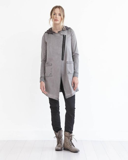 Marrakech | Gray Tish Hooded Utility Jacket | Lyst
