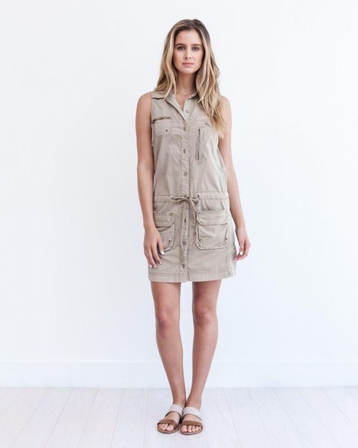 Marrakech | Brown Panama Cargo Dress | Lyst