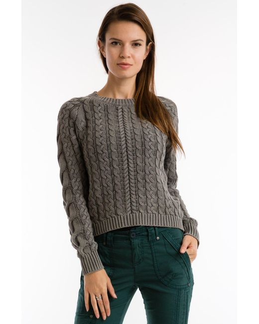Marrakech - Multicolor Sarah Cable Knit Sweater - Lyst