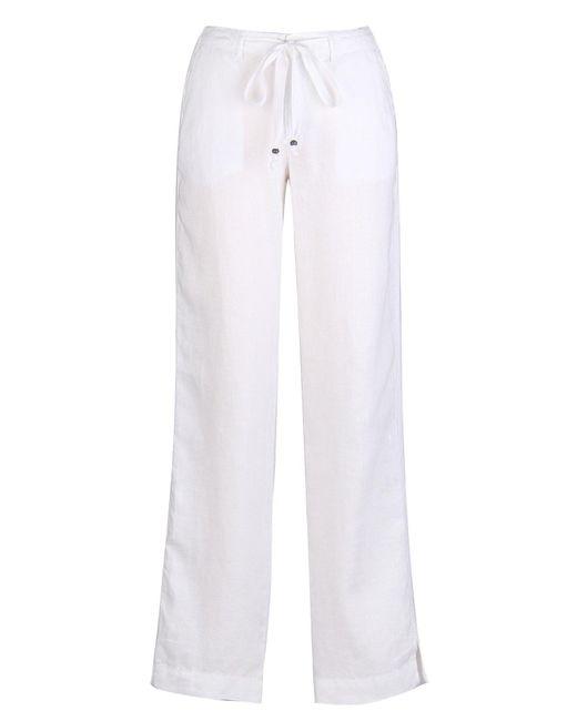 Marrakech | White Kimmy Linen Trouser | Lyst