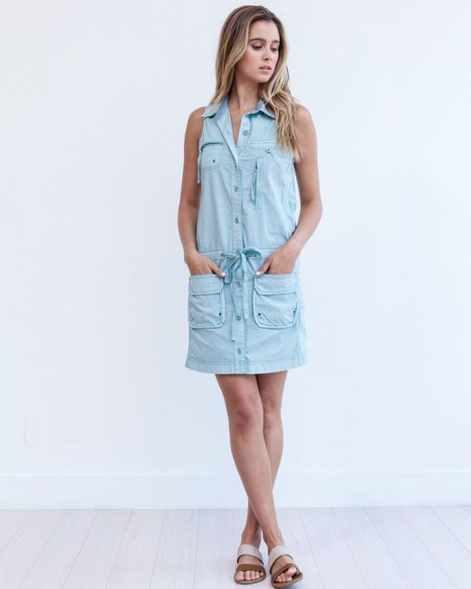 Marrakech | Blue Panama Cargo Dress | Lyst