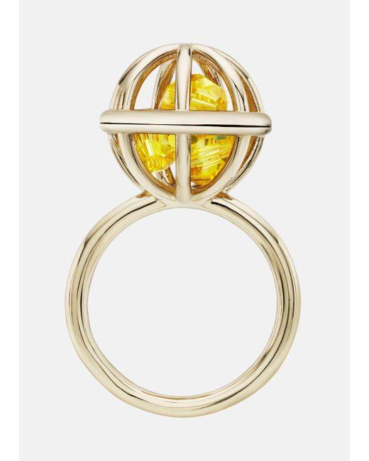 Mary Katrantzou - Metallic Nostalgia Sphere Ring Light Topaz - Lyst