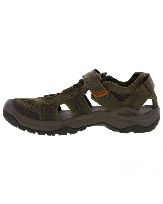ca2e85329f8b ... Teva - Brown Omnium 2 Leather Walking Sandals for Men - Lyst ...