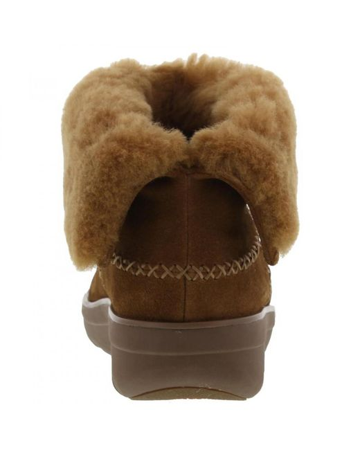 96199a23fa8e06 ... Fitflop - Brown Mukluk Shorty Fur Lined Ankle Boots - Lyst ...