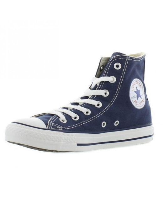 7f7852113d69 Converse - Blue Adults All Star Hi Top Canvas Trainers for Men - Lyst ...
