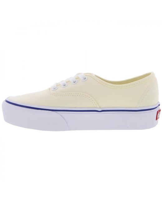 a0f6a10c23 Vans Authentic Chunky Platform 2.0 Trainers Shoes in White - Save 47 ...