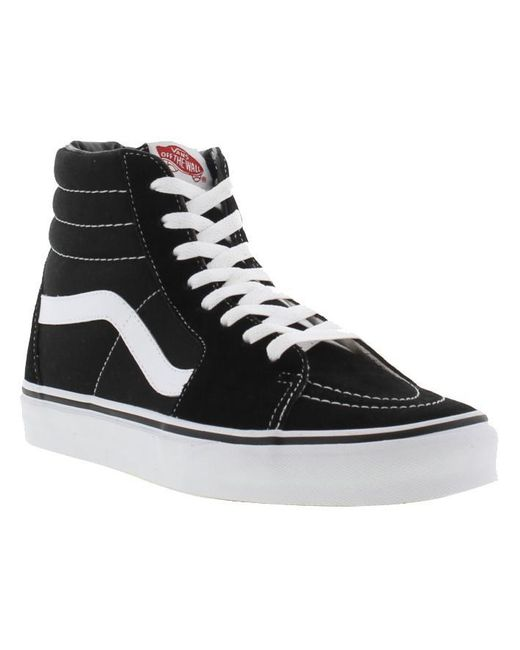 9091f6b785 ... Vans - Black Adults Sk8-hi Trainers for Men - Lyst ...