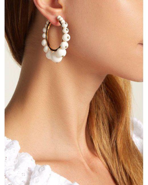 Ana bead-embellished hoop earrings Aur RFtQZhdhx9