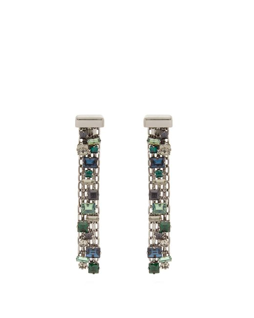 Lanvin | Multicolor Crystal-drop Clip On Earrings | Lyst