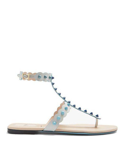 Fendi - Multicolor Dégradé Spike-embellished Leather Sandals - Lyst